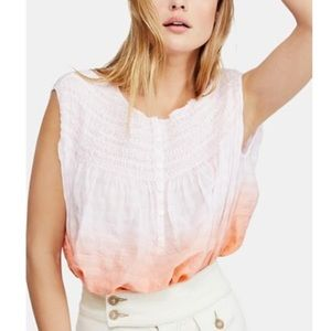 NWT Free People Little Bit of Something Ombre Top